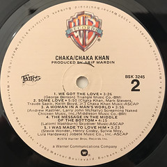 CHAKA KHAN:CHAKA(LABEL SIDE-B)