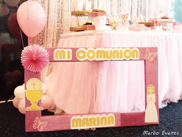 Decoracion comunion niña merbo events