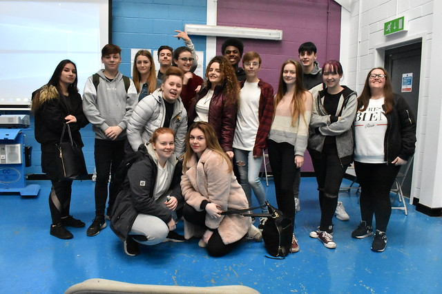 St Helens College students perform at the 14-16 Academy