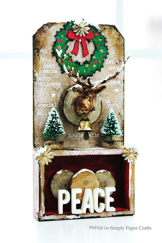 Meihsia Liu Simply Paper Crafts Mixed Media Tag Gift It Christmas Decor Simon Says Stamp Tim Holtz