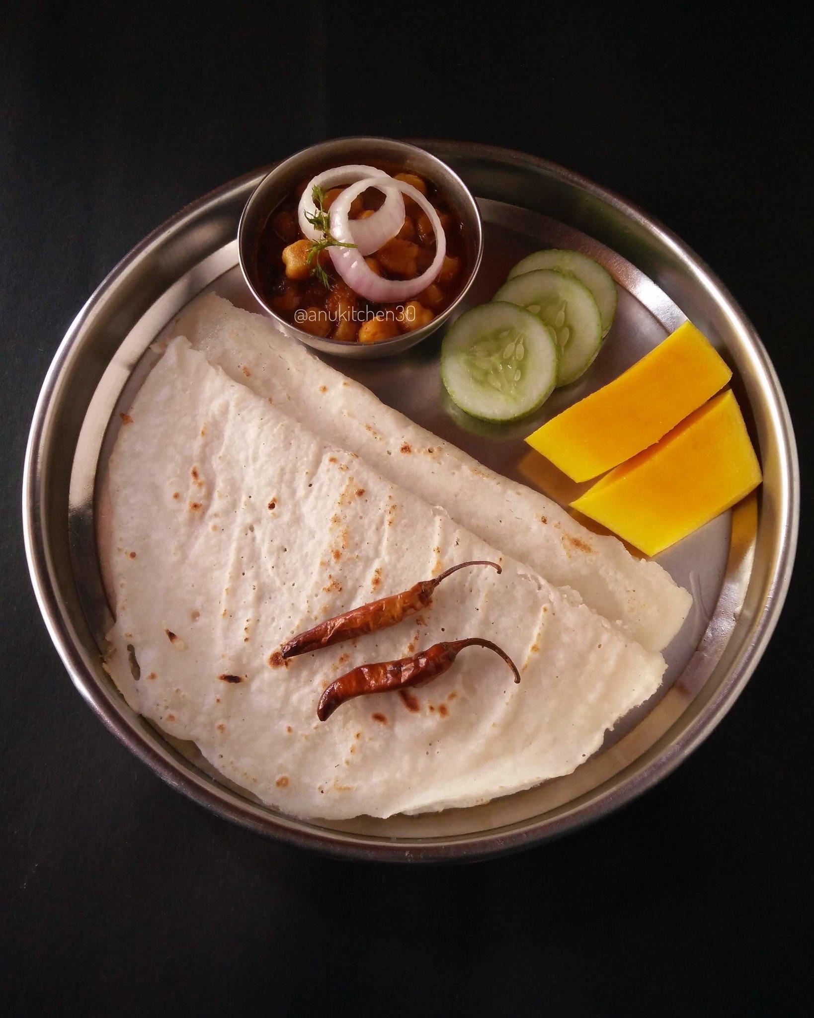 ಅಕ್ಕಿ ರೊಟ್ಟಿ ಮತ್ತು ಚನ್ನ ಮಸಾಲ | Akki Rotti & Channa Masala