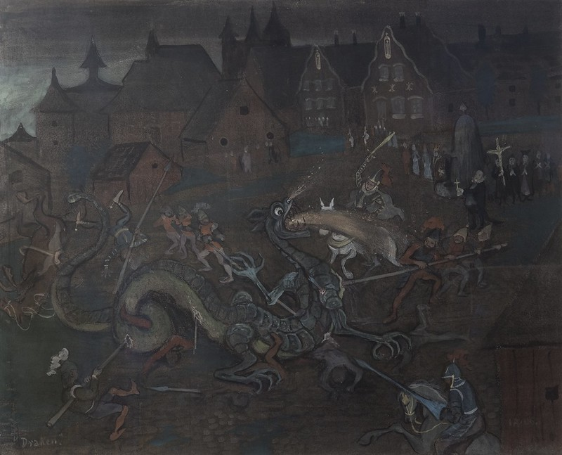 Ivar Arosenius - Dragon, 1906
