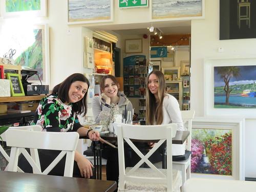 The wonderful staff at the Kilbaha Gallery