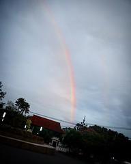 Pelangi Senja Hari. #rainbow #mantan #mhsum #malang