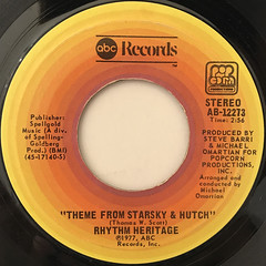RHYTHM HERITAGE:THEME FROM STARSKY & HUTCH(LABEL SIDE-A)