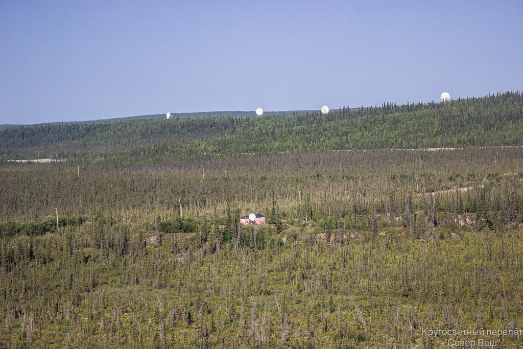 Тарелки спутниковой связи окружают Инувик