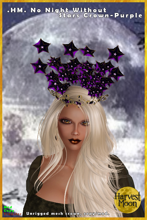Harvest Moon – No Night Without Stars Crown – Purple
