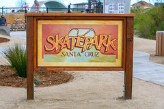 Ken Wormhoudt Skate Park sign, Santa Cruz