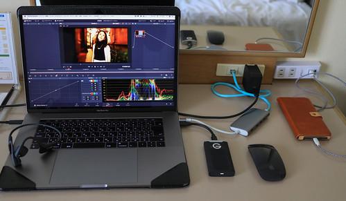 MacBook Pro in travel