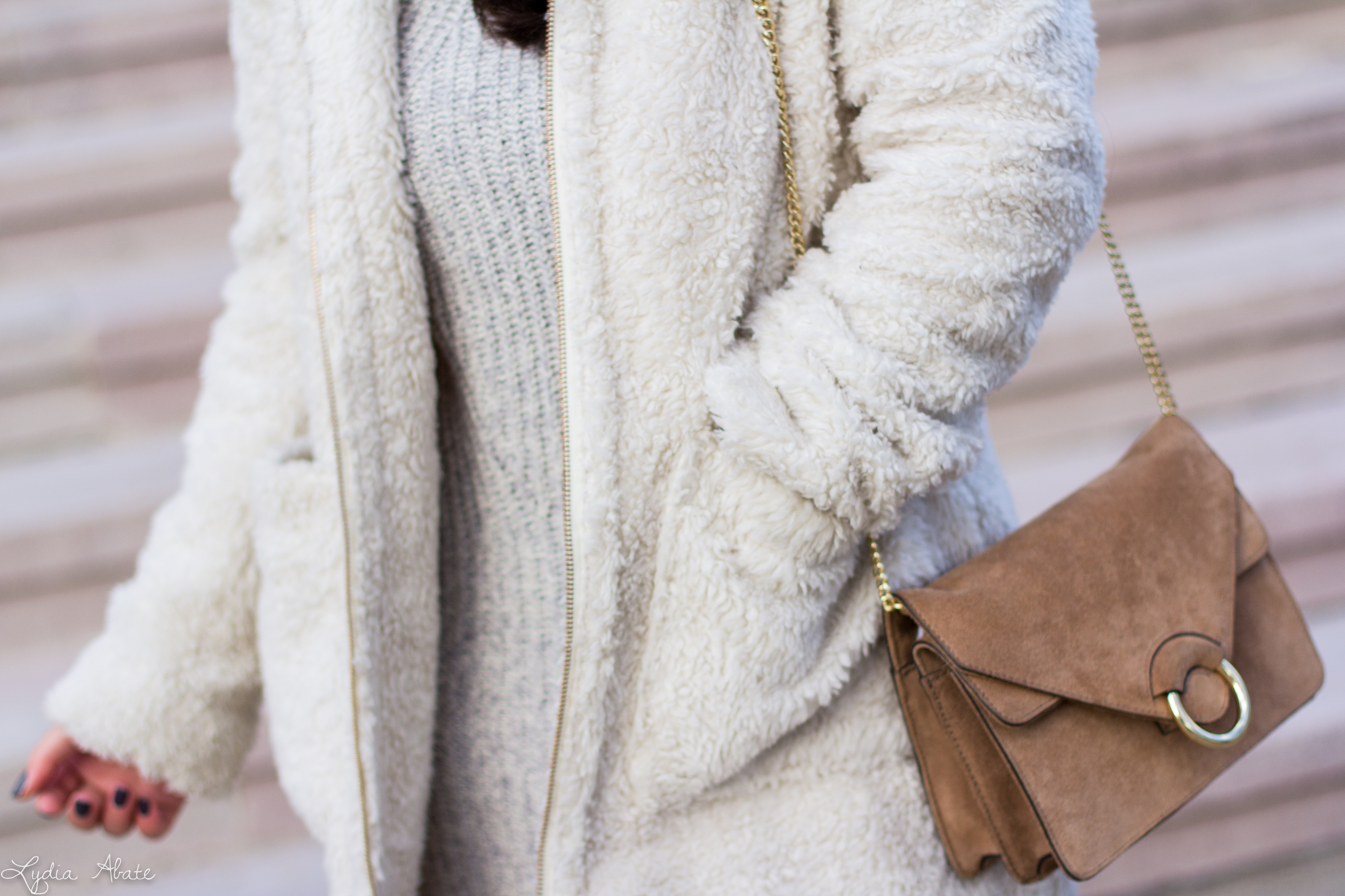 grey sweater dress, white teddy coat, over the knee boots-18.jpg