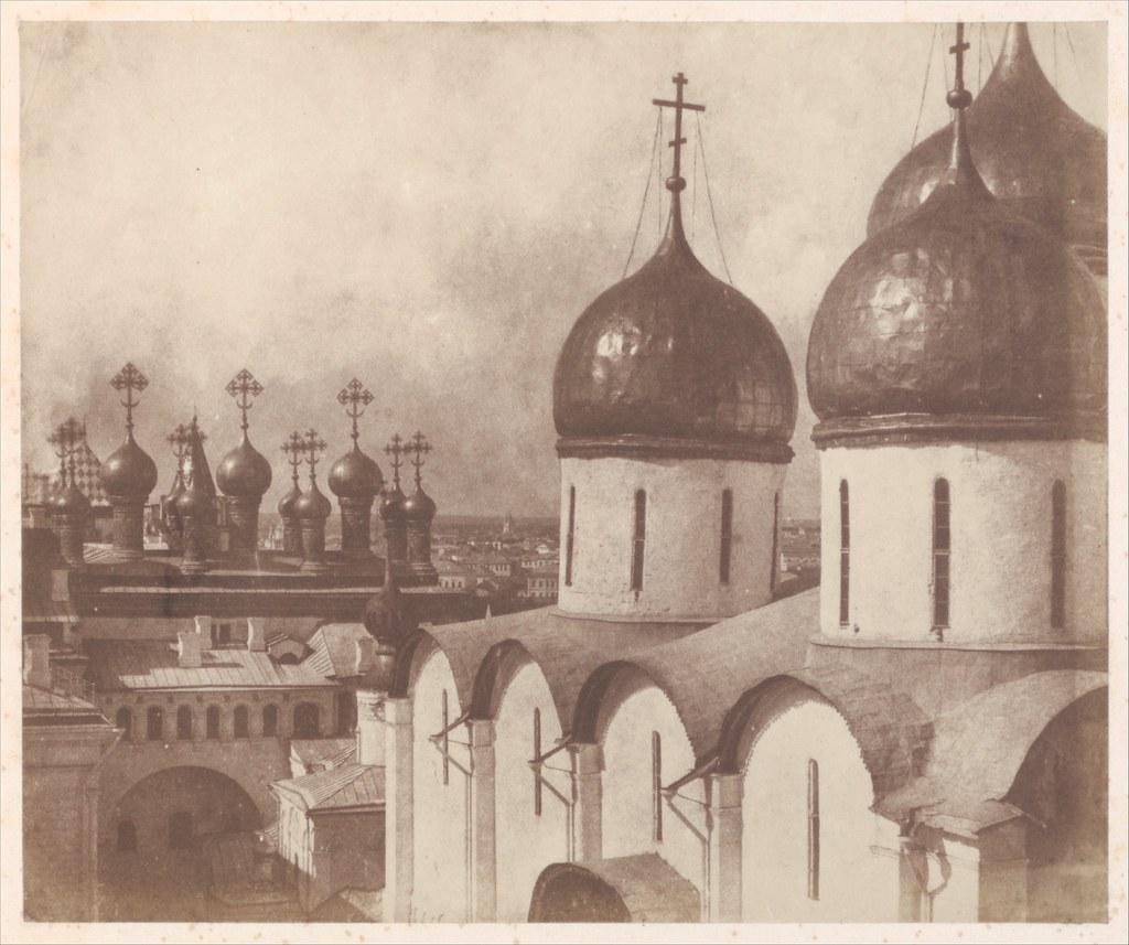Москва. Купола Кремлевских соборов