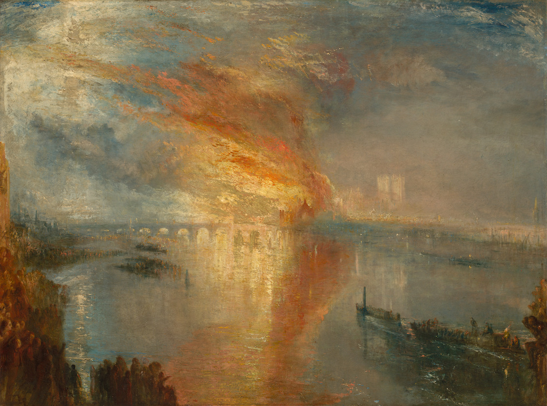 Burning of the Houses of Lords and Commons turner