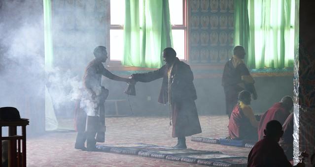Smoke offering in Yarchen Gar, Tibet 2018