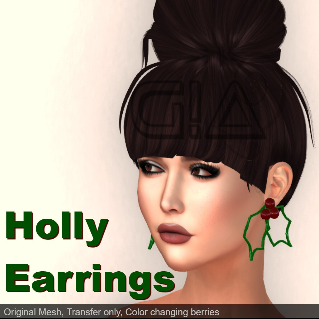 Holly Earrings Vendor - 13th December - Advent Calendar Gift - TeleportHub.com Live!