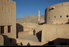 View from Nizwa Fort towards Sultan Qaboos Mosque, Nizwa, Oman