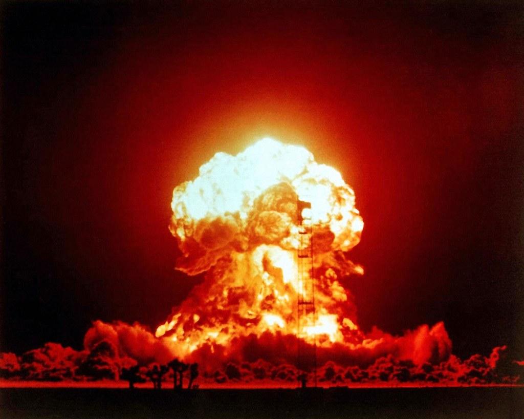 1957. Ядерное испытание «Присцилла». Най Каунти, штат Невада, США. 25 июня