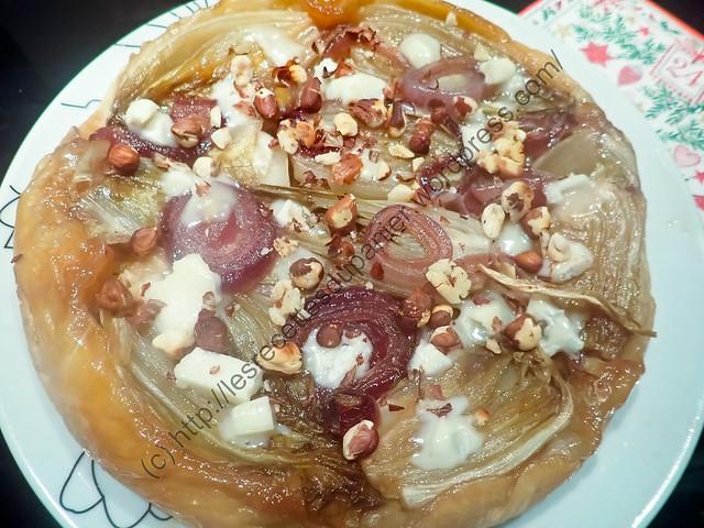 Tarte tatin à l'endive, oignon et Gorgonzola / Chicory, Onion and Gorgonzola Tatin Tart