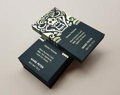 Black Business Cards 38pt