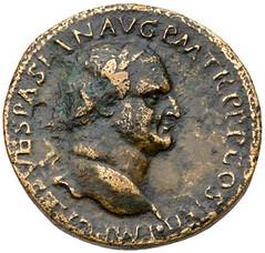 IVDAEA AUGUST sestertius obverse