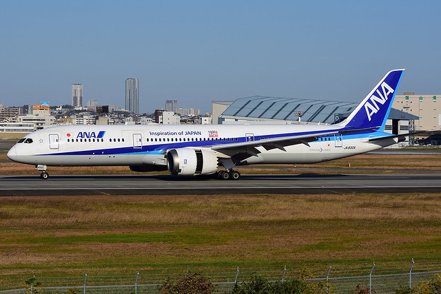 All Nippon Airways Boeing, Nikon D7200, AF-S VR Zoom-Nikkor 70-300mm f/4.5-5.6G IF-ED