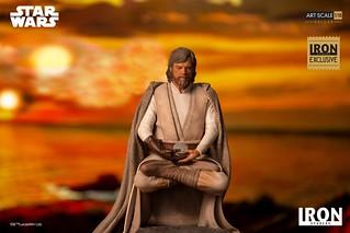 一代絕地大師的最後身影! Iron Studios《STAR WARS:最後的絕地武士》路克·天行者 豪華版 Luke Skywalker Deluxe 1/10 比例全身雕像作品