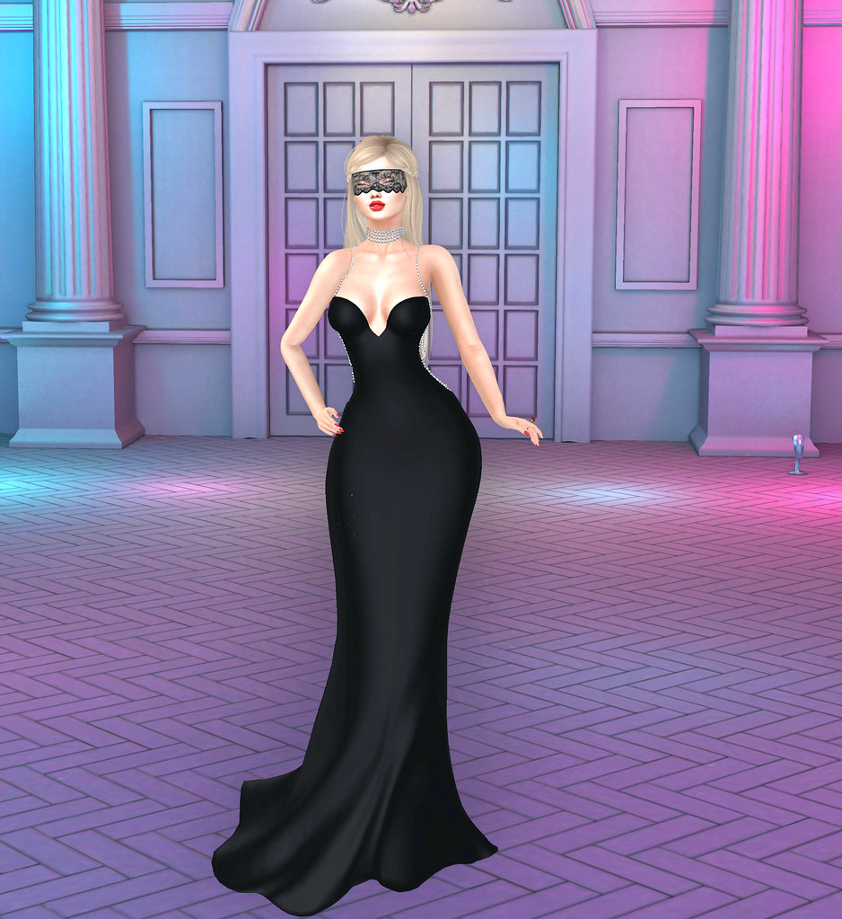 [Sexy Princess] Eyes Wide Shut Black Gown White Pearls
