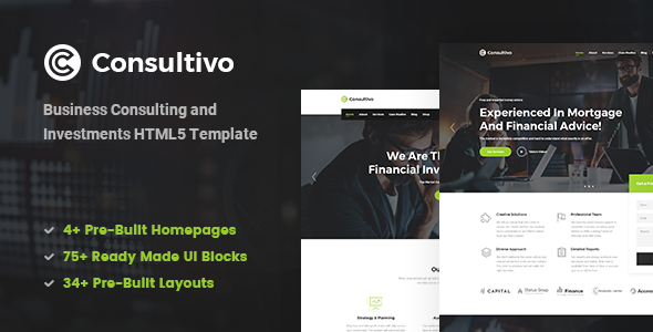 Consultivo v1.0 - Business Consulting and Investments HTML5 Template