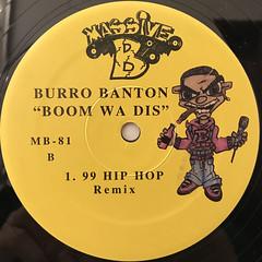 BURRO BANTON:BOOM WA DIS(LABEL SIDE-B)