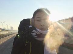 終於抵達烏蘭巴托!室外氣温體感-25℃:snowflake:,很冷嗎?該穿的都穿了!我卻覺得非常舒服,因為我係屬於冬天既,爽! 【浪游旅人】https://ift.tt/1zmJ36B #bacpackerjim #morning ##winter #cold #belowfreezing #sleeper #compartment #bed #train #railway #ulaanbaatar #mongolia #Улаанбаатар #монголулс