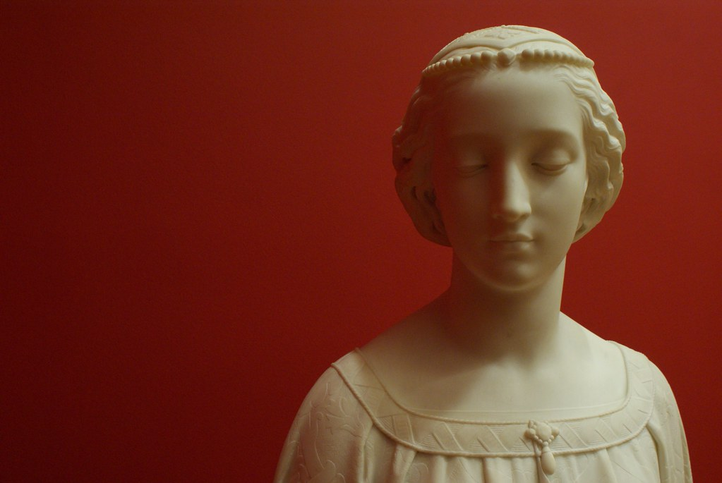 "> ""Madonna Laura"" (1861) d'Odoardo Fantacchiotti - GAM, musée d'art moderne de Turin."