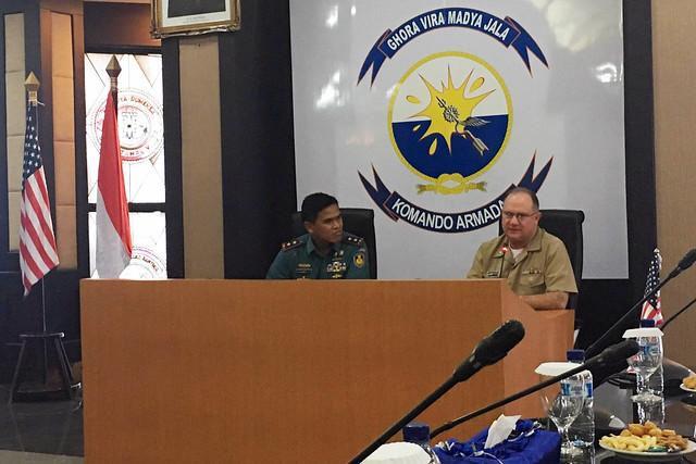U.S., Indonesian leaders kick off the U.S.-Indonesia submarine force staff talks in Surabaya