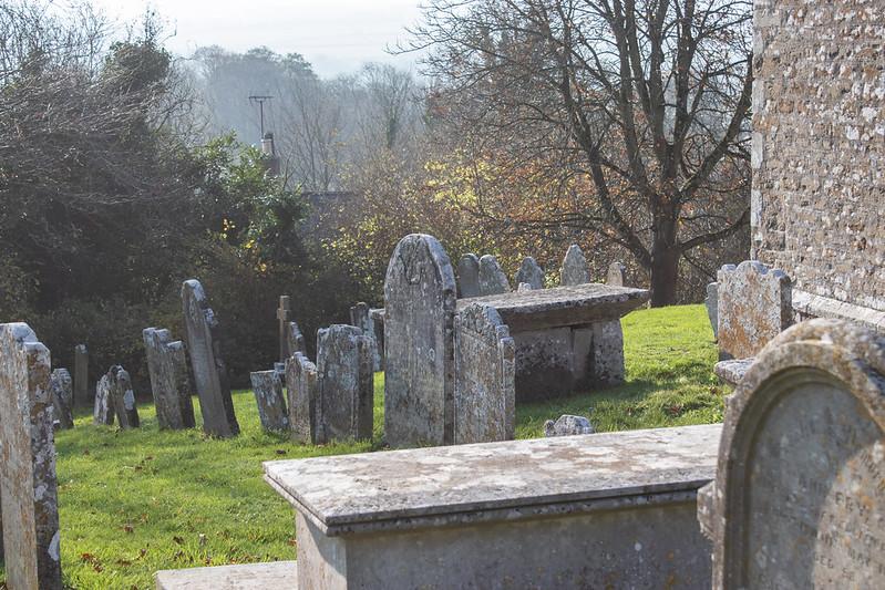 Litton Cheney Churchyard in November