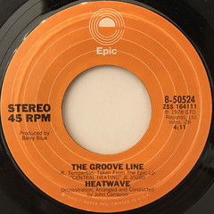 HEATWAVE:THE GROOVE LINE(LABEL SIDE-A)