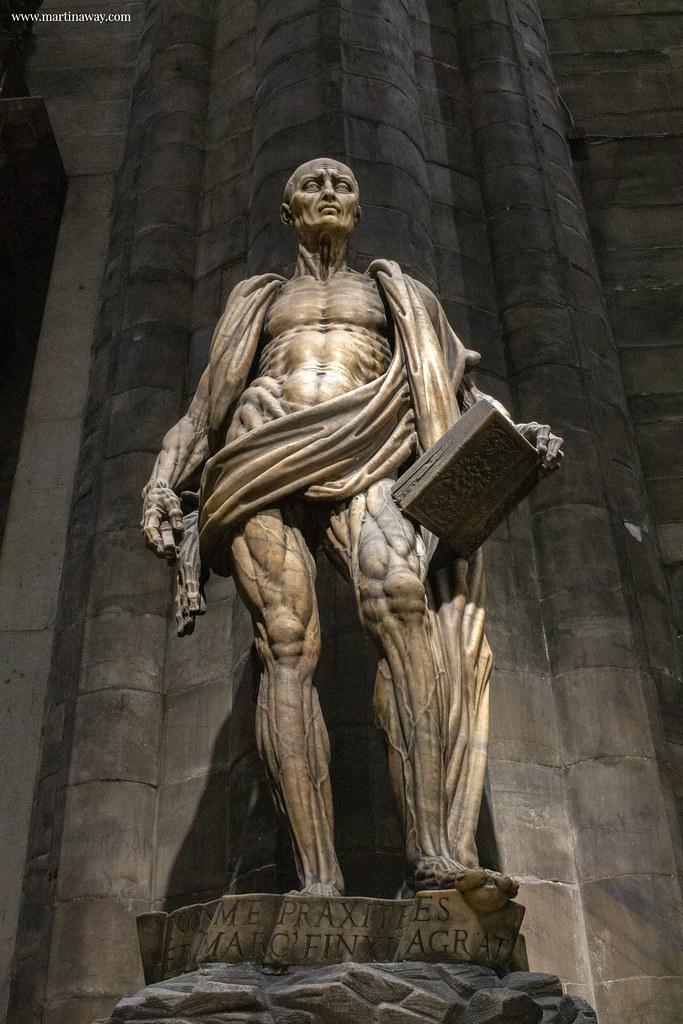 Duomo di Milano: Marco d'Agrate, San Bartolomeo scorticato
