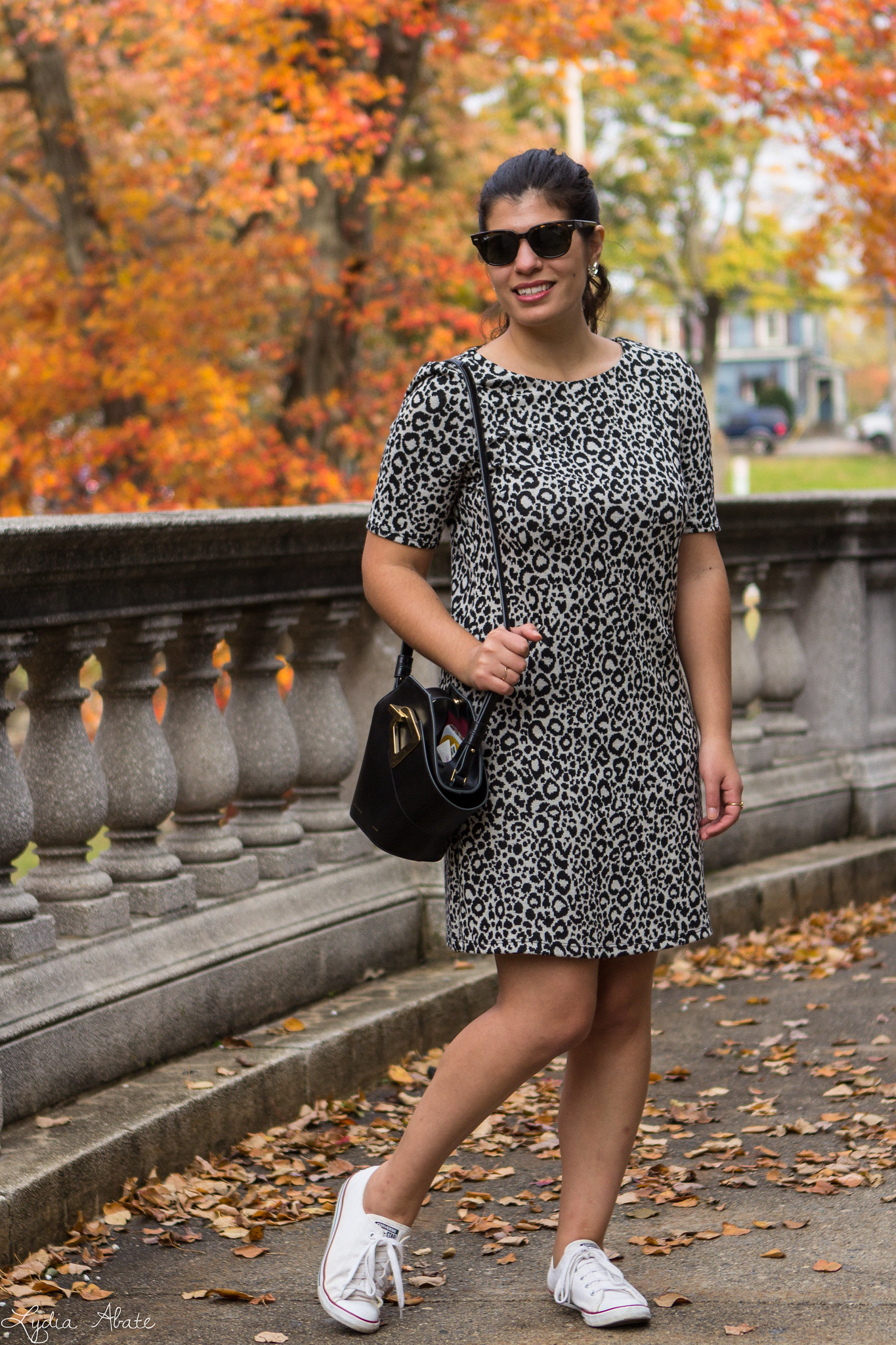 Leopard Dress, Converse Sneakers, Danse Lente Bucket Bag-4.jpg