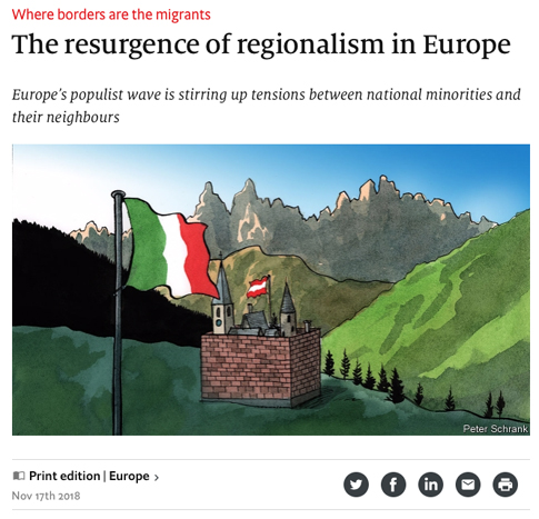 18k17 The resurgence of regionalism in Europe - Where borders are the migrants