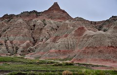 Layers and Colors of Badlands at Saddle Pass Trailhead (Badlands National Park)