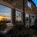 Good views of sunsets from these cottages ...