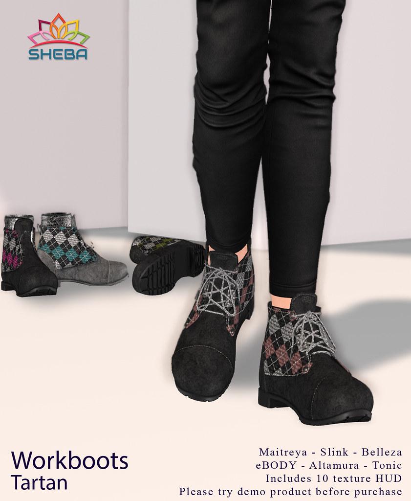 [Sheba] Workboots Tartan /Fly Buy Friday offer