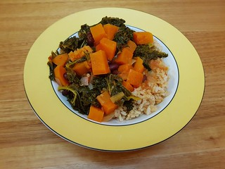 Carribean Coconut Collards & Sweet Potatoes