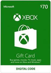 Xbox 70 $ Gift Card - Digital Code