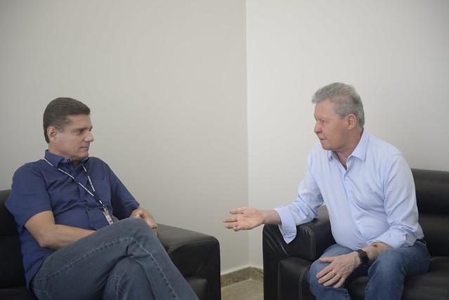 'O amor por Manaus é o que nos une', diz Arthur ao se reunir com vice-prefeito Marcos Rotta