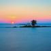Sundown at Lake Superior by Frӓncis