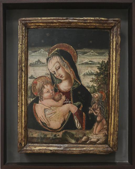 Madonna col Bambino e sant' Onofrio, Carlo Crivelli, Venezia 1430-35)