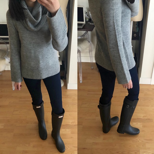 Hunter Refined Slim Fit Back Strap Rain Boots (true to size)