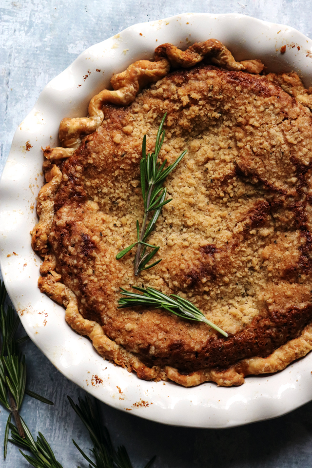 Rosemary Honey Shoofly Pie