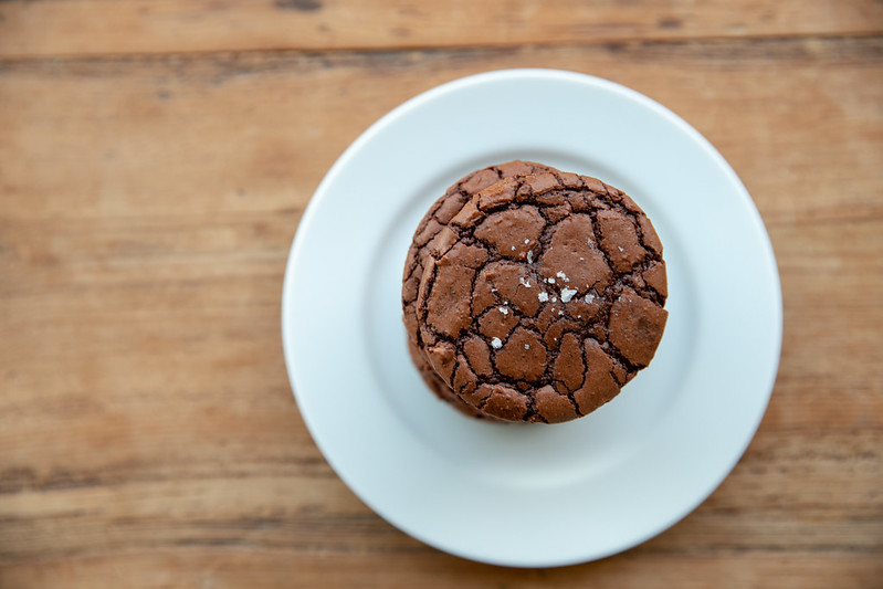 Brownie Crinkle Cookies with Sea Salt | Food Librarian