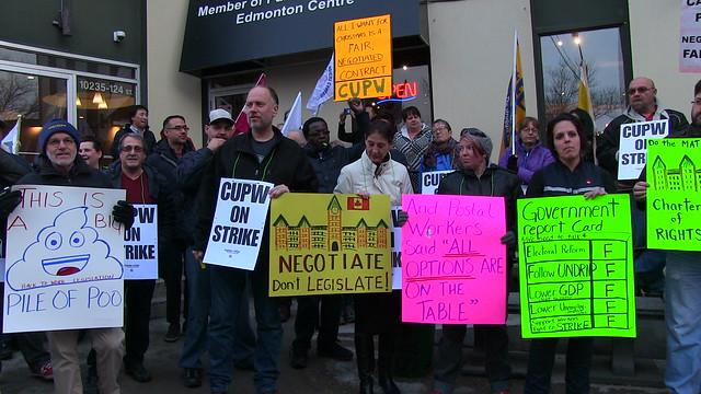 CUPW Protest - Edmonton