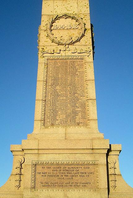 D edicationPeterhead Great War Memorial