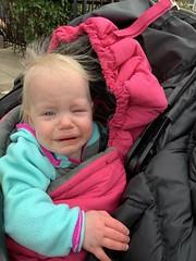 Evie doesn't like her stroller blanket!